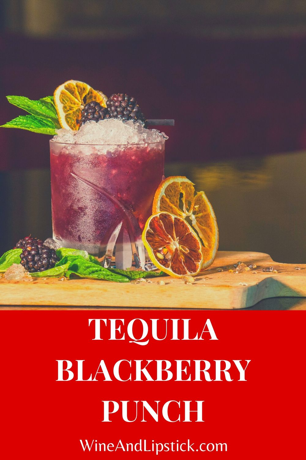 Tequila Blackberry Punch {Simple Tequila Drink}