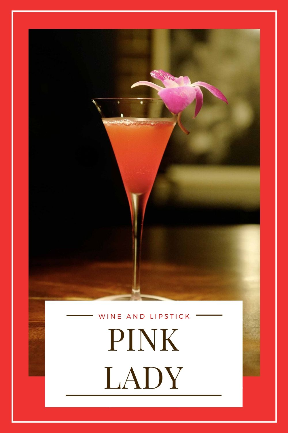 Pink Lady {Pink Gin Cocktail}